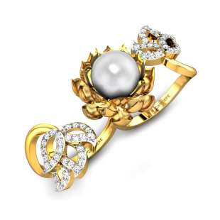 Crowning Glory White Pearl Ring